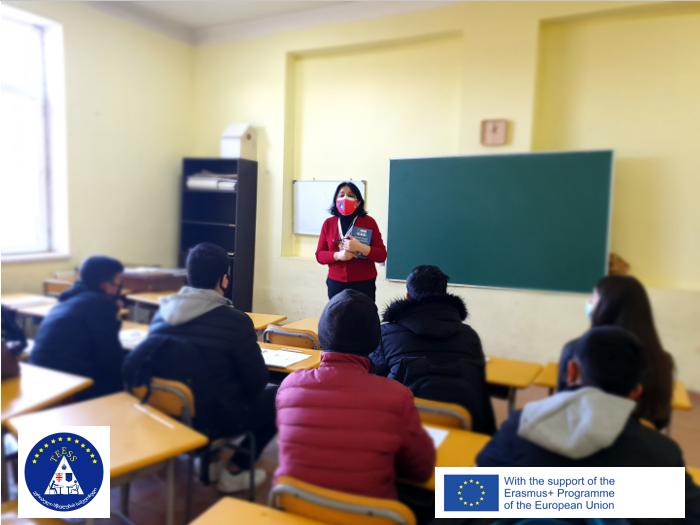"""Erasmus+ ჟან მონეს პროექტი """"ევროპული სწავლების სამკუთხედი"""" (TEESS) მარნეულის N2 ქართულ-რუსულ საჯარო სკოლაში"""